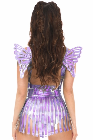 2 PC Lavender Holo Body Harness Set - IN STOCK