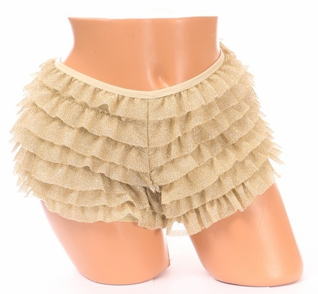 Gold Glitter Ruffle Panty - IN STOCK