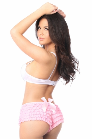 Pink Ruffle Panty w/Bow - IN STOCK