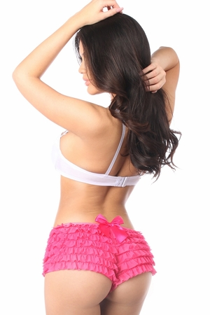 Fuchsia Ruffle Panty w/Bow - IN STOCK