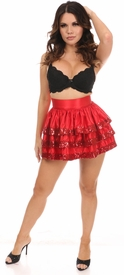 Red Sequin 3 Layer Skirt