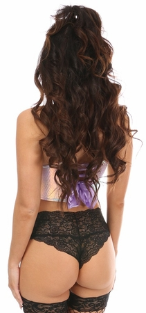 Lavish Mermaid Holo Short Bustier Top - IN STOCK