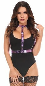 Purple Metallic Body Harness - IN STOCK