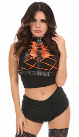 Vegan Leather Lace-Up Body Harness - IN STOCK