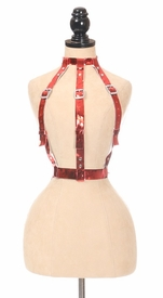 Red Metallic Body Harness - IN STOCK