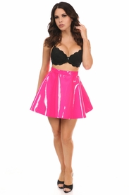 Hot Pink Patent Skirt - IN STOCK