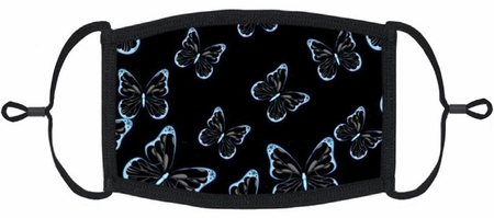 Blue Butterflies Fabric Face Mask
