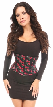 Lavish Pink Rose Satin Mini Cincher - IN STOCK