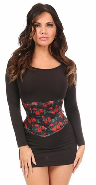 Lavish Rose Satin Mini Cincher - IN STOCK