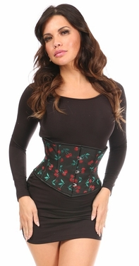 Lavish Cherry Brocade Mini Cincher - IN STOCK