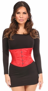 Lavish Red Satin Mini Cincher - IN STOCK