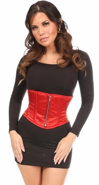 Top Drawer Red Satin Steel Boned Mini Cincher - IN STOCK