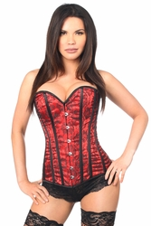 Lavish Red Lace Overbust Corset - IN STOCK