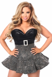 Top Drawer Embroidered Net Steel Boned Corset Dress - IN STOCK