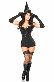 Top Drawer 4 PC Bad Witch Corset Costume