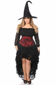 Lavish 4 PC Lace Witch Corset Costume