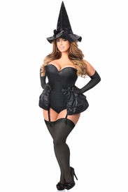 Lavish 4 PC Midnight Witch Corset Costume