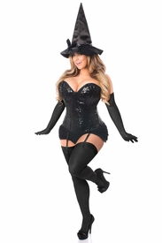Top Drawer 4 PC Sequin Witch Corset Costume