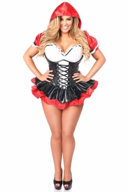 Top Drawer Premium Red Riding Hood Corset Dress Costume