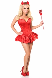 Top Drawer Delicious Devil Corset Dress Costume