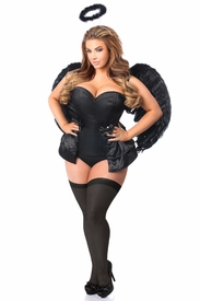 Lavish 4 PC Angel of Darkness Corset Costume