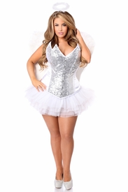 Top Drawer 4 PC Heavenly Angel Corset Costume