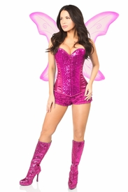 Top Drawer 3 PC Pink Fairy Corset Costume