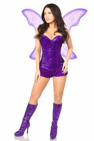 Top Drawer 3 PC Purple Fairy Corset Costume