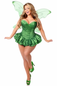 Top Drawer 2 PC Glitter Fairy Corset Dress Costume