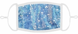 YOUTH SIZE - Lt Blue Sequin Fabric Mask