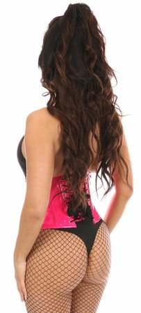 Top Drawer Hot Pink Patent Steel Boned Mini Cincher