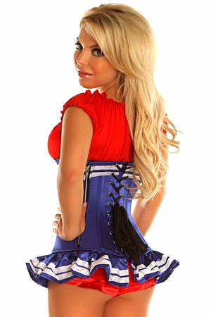 Top Drawer Royal Blue Pin-Up Underbust Corset