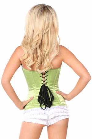 Lavish Lime Sweetheart Front Zipper Corset - IN STOCK