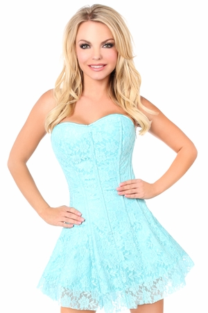 Lavish Mint Green Lace Corset Dress - ON SALE