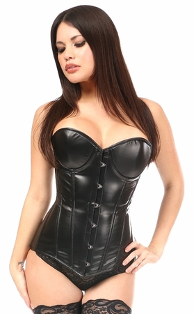 Lavish Wet Look Underwire Corset - IN STOCK