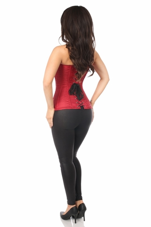 Lavish Wine Brocade Corset - IN STOCK
