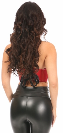 Lavish Red Patent PVC Underwire Short Bustier - IN STOCK