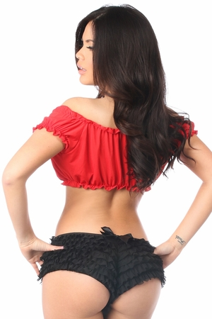 Red Peasant Top - IN STOCK