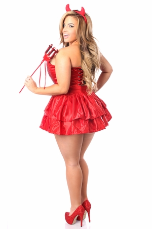 Top Drawer 4 PC Daring Devil Corset Costume