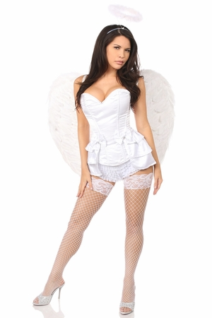 Lavish 4 PC Angelic Corset Costume
