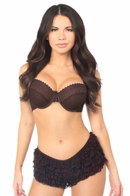 Dark Brown Lace Ruffle Panty - IN STOCK