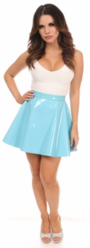 Blue Patent Skirt