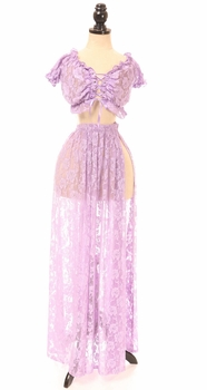 Sheer Lilac Lace Skirt