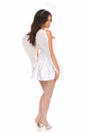 Lavish 4 PC Sexy Angel Corset Costume