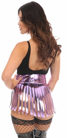 Purple Metallic Fringe Skirt - IN STOCK