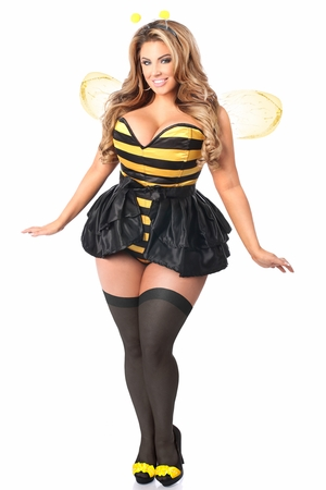 Lavish 4 PC Flirty Bee Corset Costume