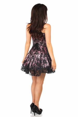 Lavish Pink Lace Corset Dress