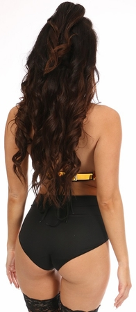 Sunset Holo Lace-Up Harness Top