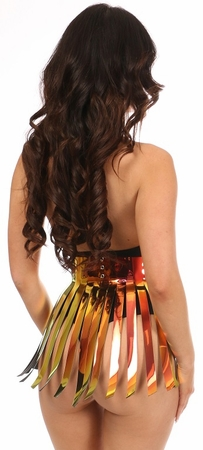 Sunset Holo Fringe Skirt