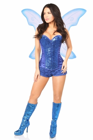 Top Drawer 3 PC Blue Fairy Corset Costume